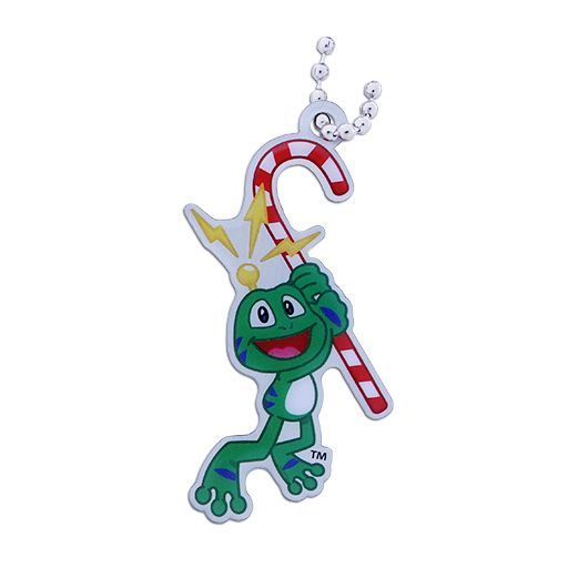 Signal the Frog® Candy Cane Travel Tag